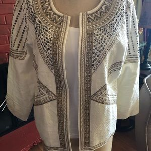 Chico's blazer with beautiful with details